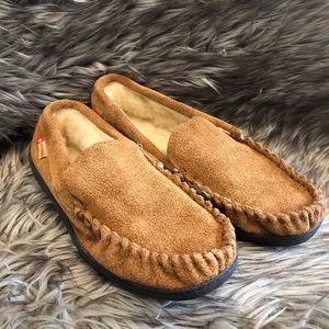 NEW Alpine Swiss Men's Suede Moccasin Slippers